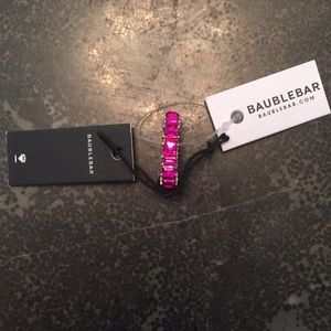 NWT Baublebar Pink Ring Size 7